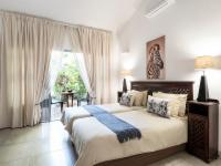 Standard double rooms with private patio
