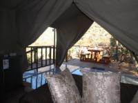 Luxury Safari Tent mountain view