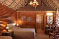 Log cabins with double and single beds